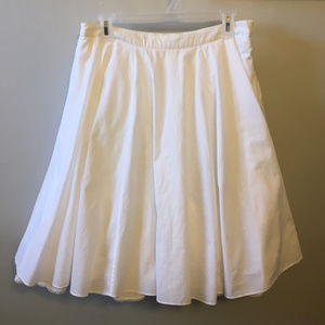 Anthropologie Odille Very Full 4 Layer Skirt Cream